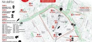 バレンシア 火祭り 地図
