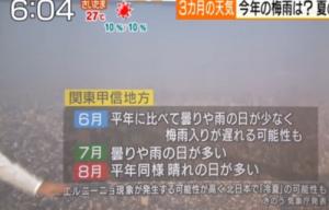 関東梅雨入り 2014 予想