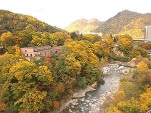 定山渓温泉 紅葉