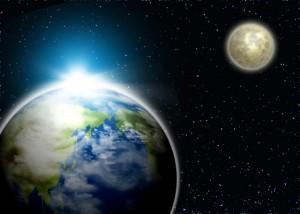 地球と月【写真AC】