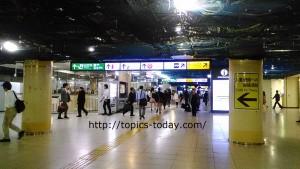 東京駅丸の内地下北口改札付近喫煙所