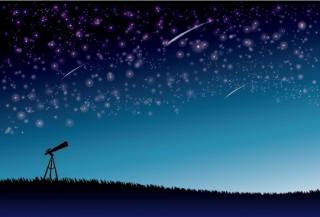 流星群と望遠鏡